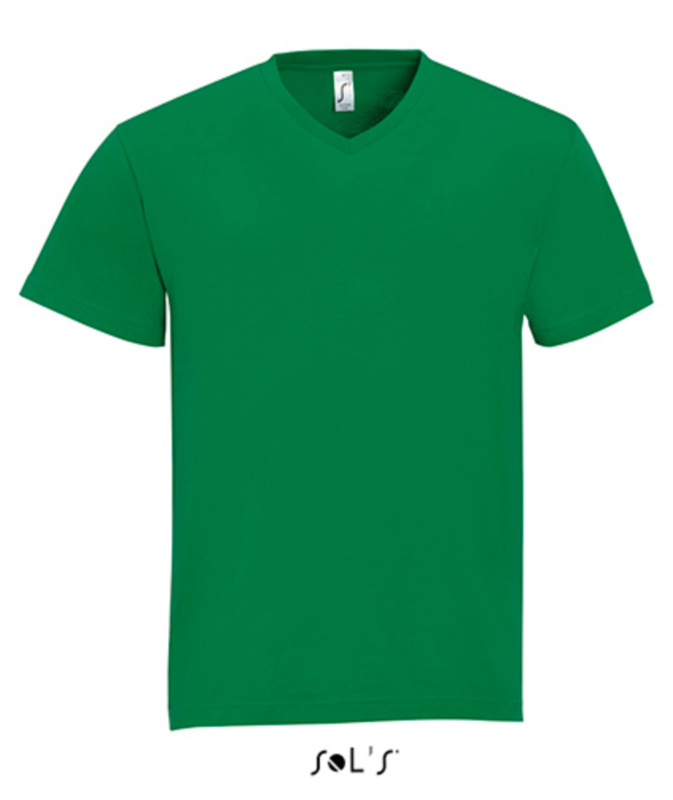 Men T-shirt V-hals - Kelly Green