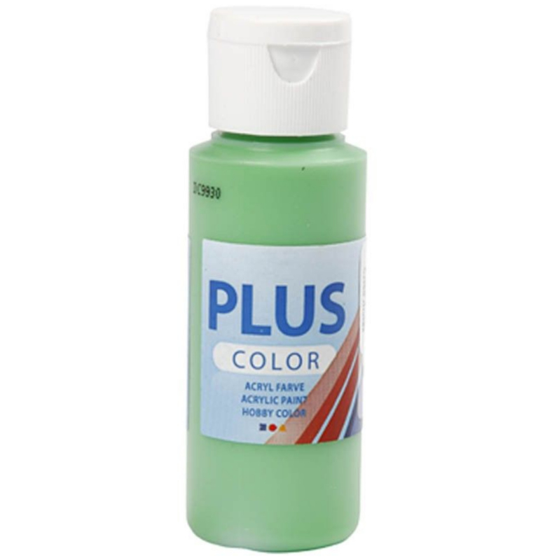 Plus Color acrylverf - Bright Green / 60 ml