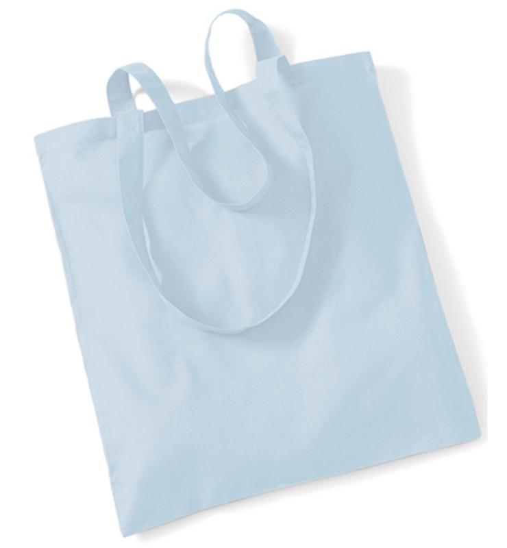 Katoenen Draagtas - Pastel blauw