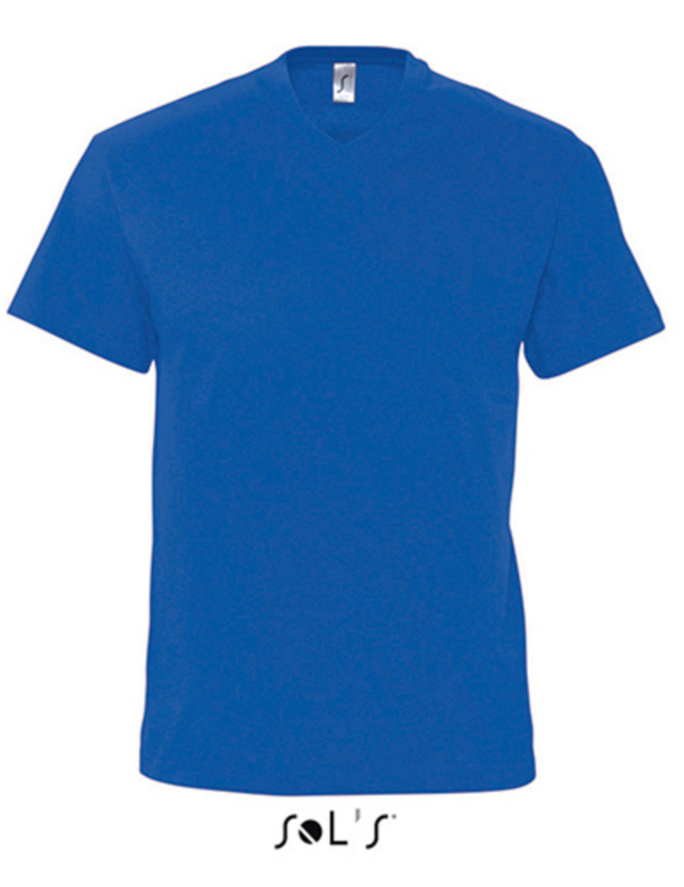Men T-shirt V-hals - Royal Blue