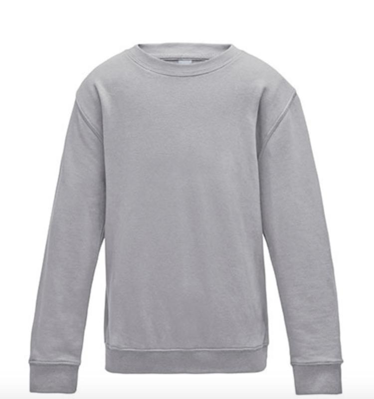 Kids AWDis Sweater - Heather Grey