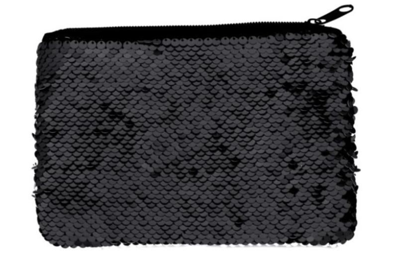 Sequin make-up tasje sublimatie- Black enkel