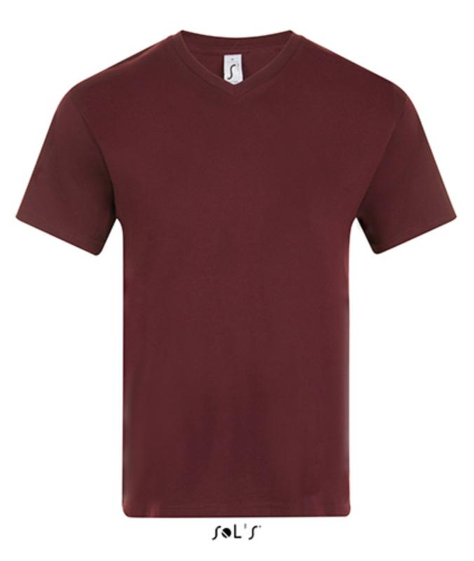 Men T-shirt V-hals - Oxblood