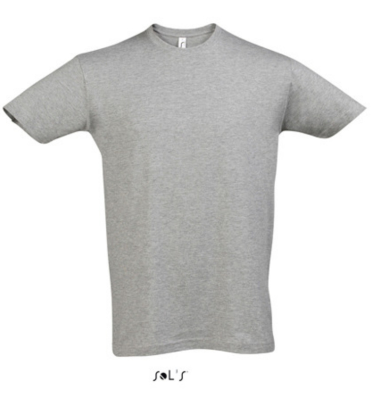 Men T-shirt - Grey Melange