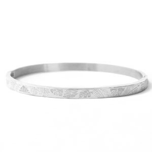 Zilver quote armband