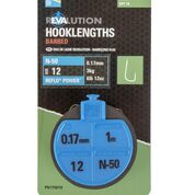 Preston N50 Revalution onderlijnen Hm:12  0.17mm 3kg  1m 10pcs