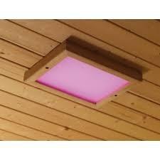 Kleuren therapie voor de sauna.