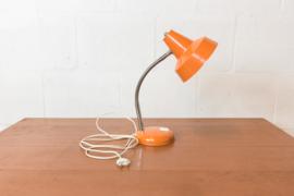 Retro oranje bureaulamp