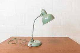 Vintage lichtgroene bureaulamp