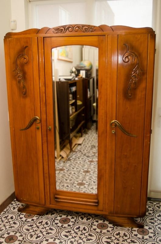 Spiegelkast in art deco stijl