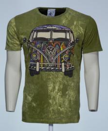 No Time T-Shirt VW Bus Groen