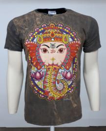 No Time T-Shirt Ganesha Brown