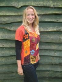 T-Shirt Flower Orange