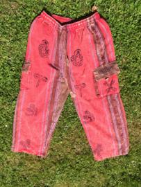 Faded Rode broek met zwarte stempels