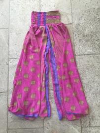 Zijden  Harembroek Pink Style