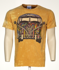 No Time T-Shirt VW Bus Geel