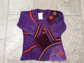 Shirt Bahini Purple Stripe