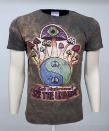 No Time T-Shirt Magic Mushrooms Brown