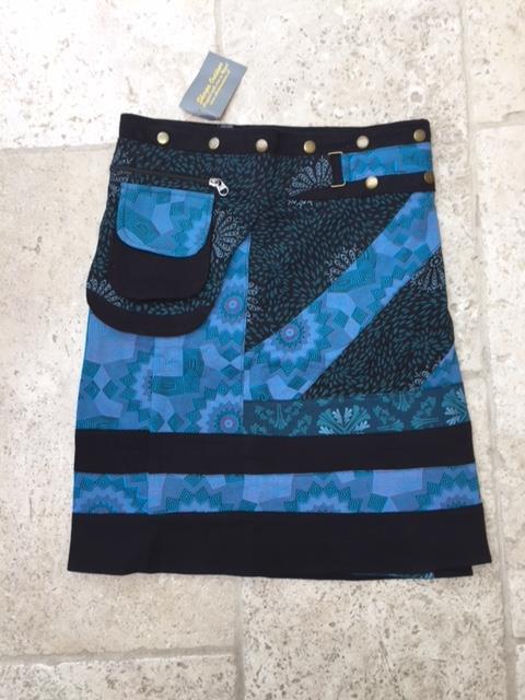 Wikkelrok Blue Stripe
