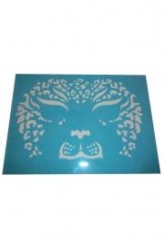 PXP aqua face & body paint template leeuwin