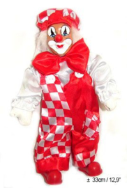 Clown rood-wit