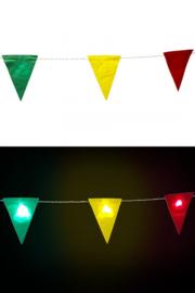 Vlaggenlijn rood/geel/groen