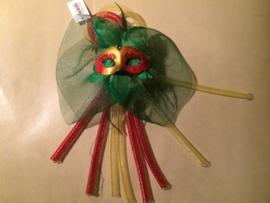 Decoratie oogmaskers voor de carnaval (diverse  kleurcombinaties)