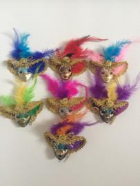 Broche Venetiaans masker(klaphoed)