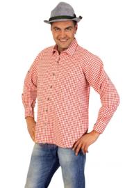 Tiroler blouse rood/wit