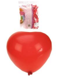 Helium ballon hart rood of wit 25 stuks