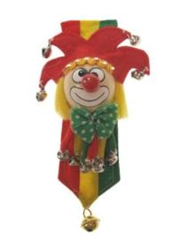 Broche  clown rood/geel/groen