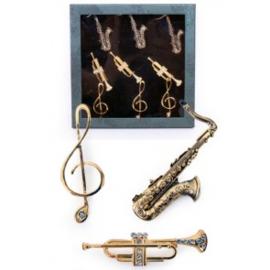 Muziekinstrumenten broche