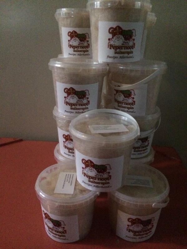 Pepernoot-suikerspin ( 1 liter emmertje)