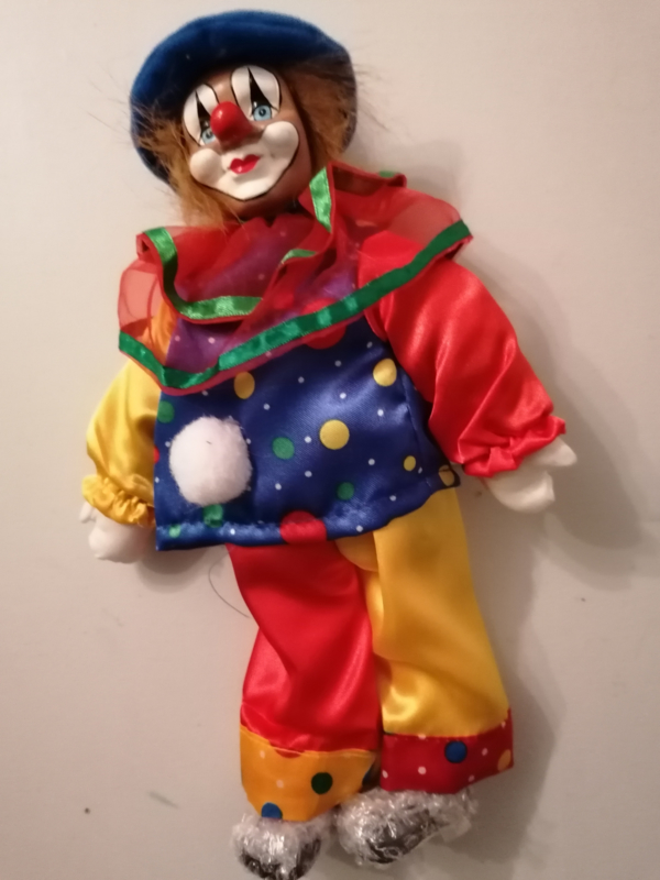 Clown blauwe muts