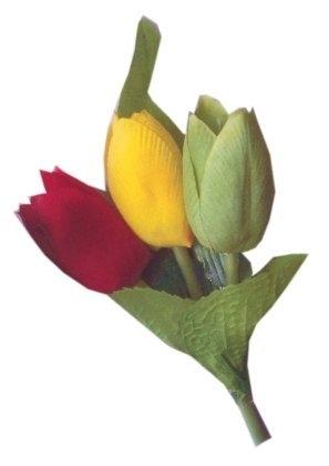 Broche van tulpen ( 12 stuks)