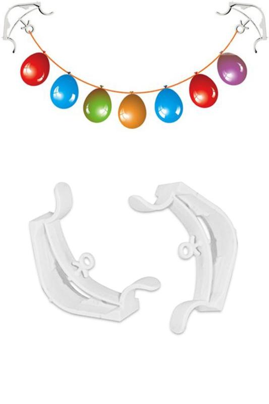 Hoekklemmen voor o.a. ballonnen en slingers