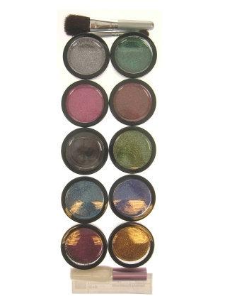 Glitterpoeder 10 kleuren
