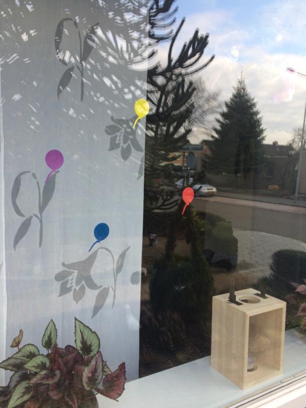 Raamversiering foam ballonnen