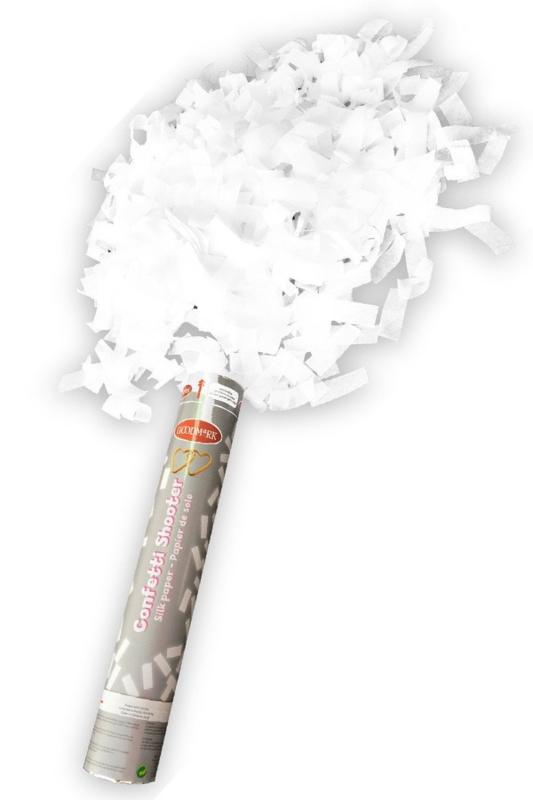 Party kanon met witte folie