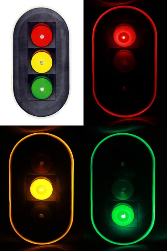 Verkeerstlicht broche met ledlicht