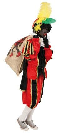 zwarte pietenpak(rood/zwart) Levertijd 2 werkdagen