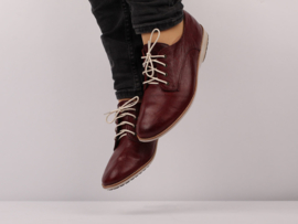 Derby Wine Heavy Distressed Leather