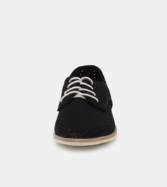 Derby Punch Black Suede