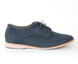 Derby Navy Waxy Leather