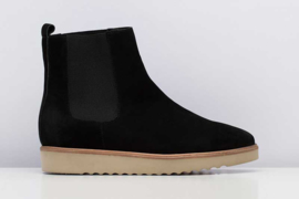 Madison Chelsea Wedge Black Suede