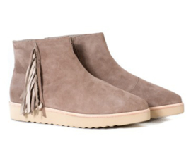 Madison Wedge Fringe Bootie Granite