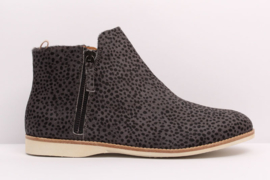 Sidezip Boot Charcoal Snow Leopard