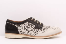 Derby Brogue White Snow Leopard Black