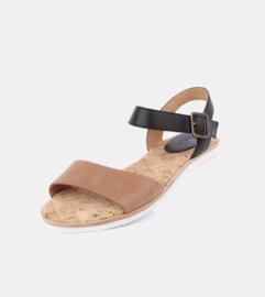 Sandal Veg Tan Black