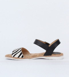 Sandal Zebra Pony Black